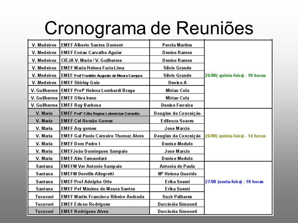 Cronograma de Reuniões