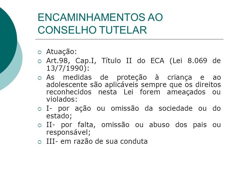 ENCAMINHAMENTOS AO CONSELHO TUTELAR
