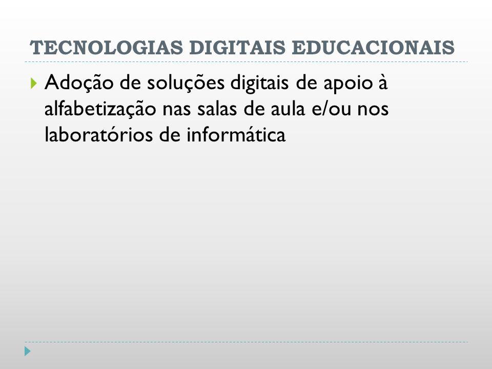 TECNOLOGIAS DIGITAIS EDUCACIONAIS