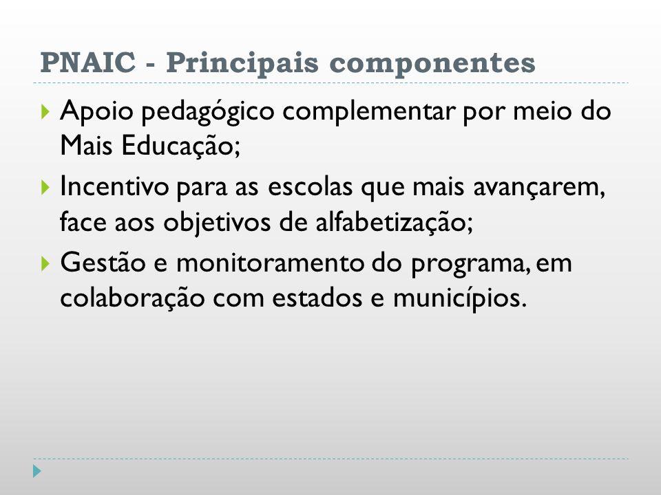 PNAIC - Principais componentes
