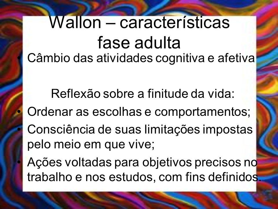 Wallon – características fase adulta