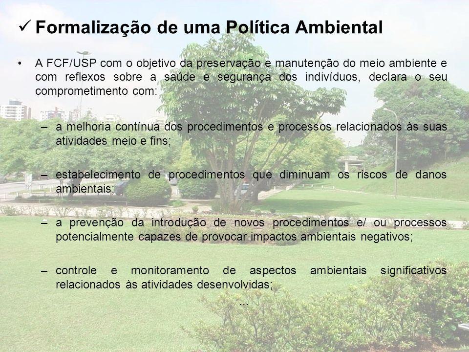Formalização de uma Política Ambiental