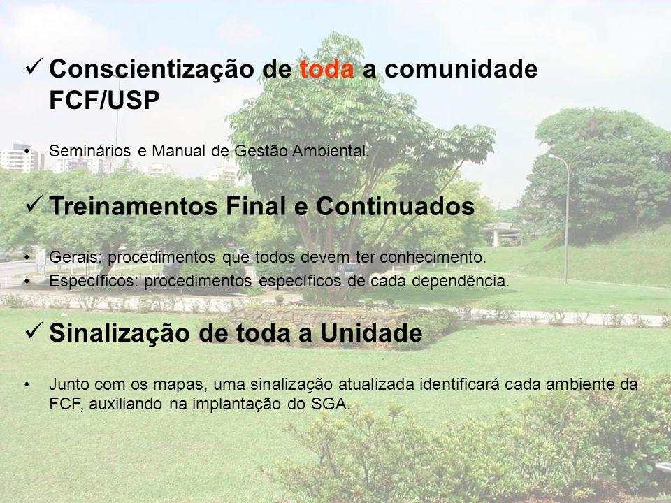 Conscientização de toda a comunidade FCF/USP