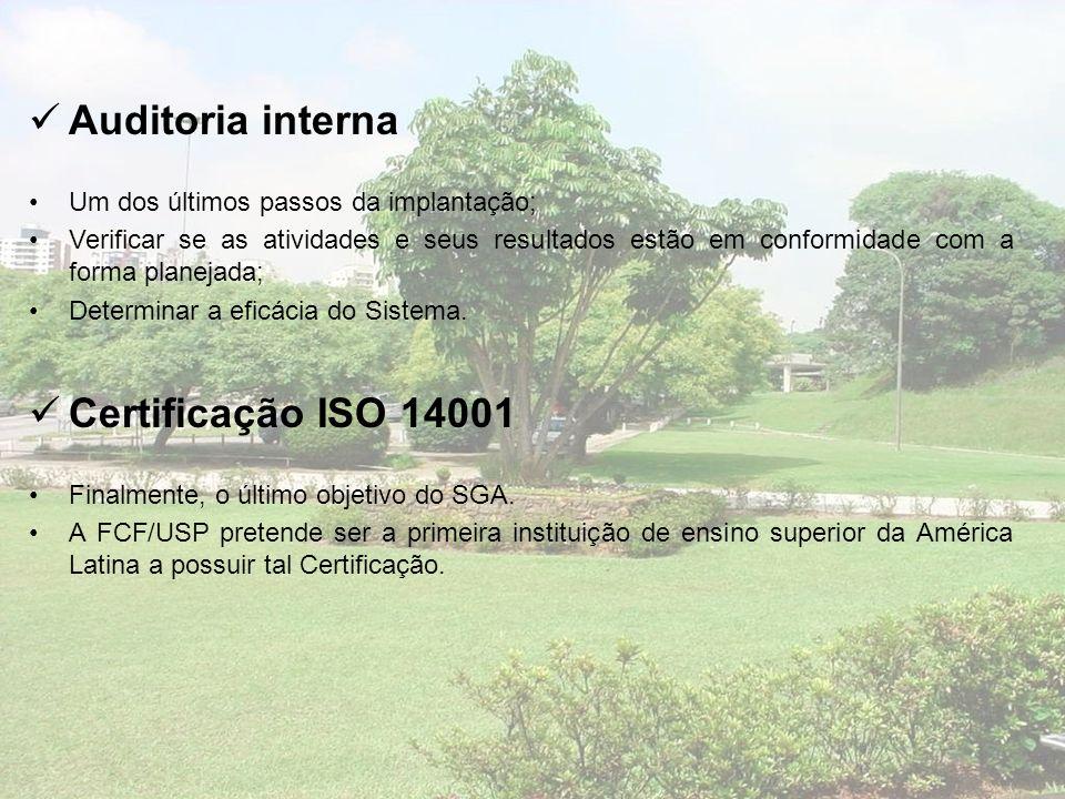 Auditoria interna Certificação ISO 14001