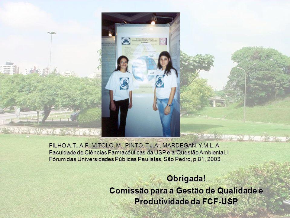 Comissão para a Gestão de Qualidade e Produtividade da FCF-USP