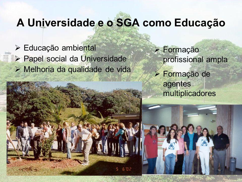 A Universidade e o SGA como Educação