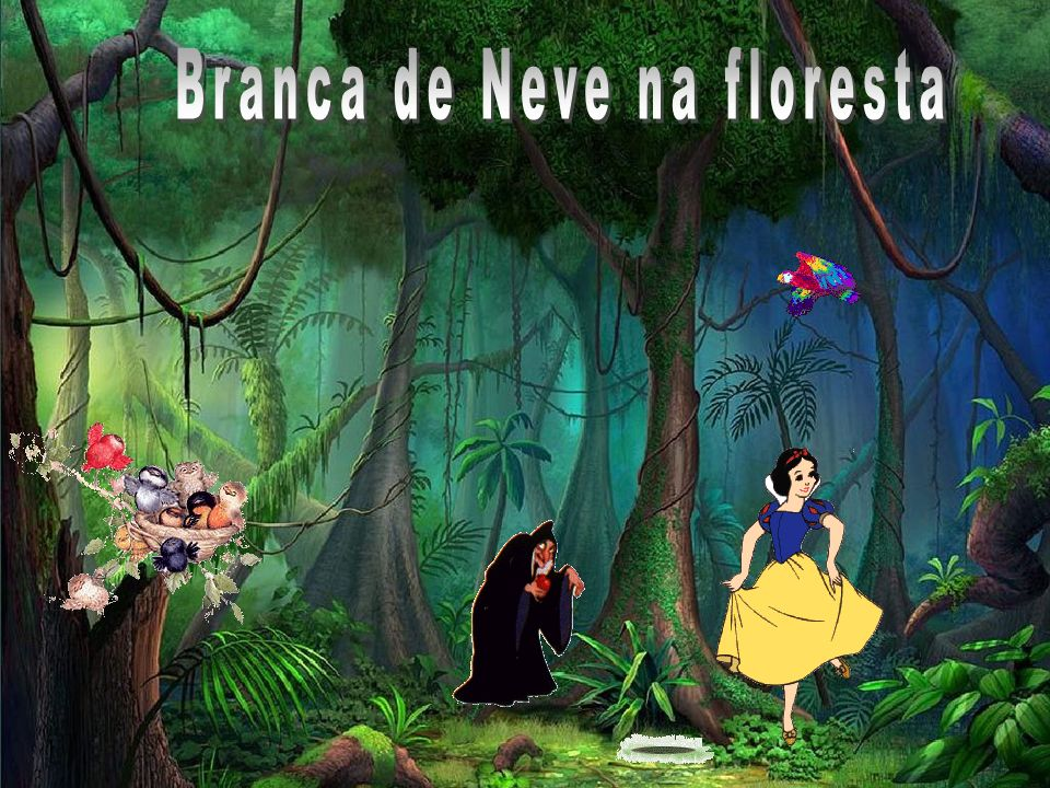 Branca de Neve na floresta