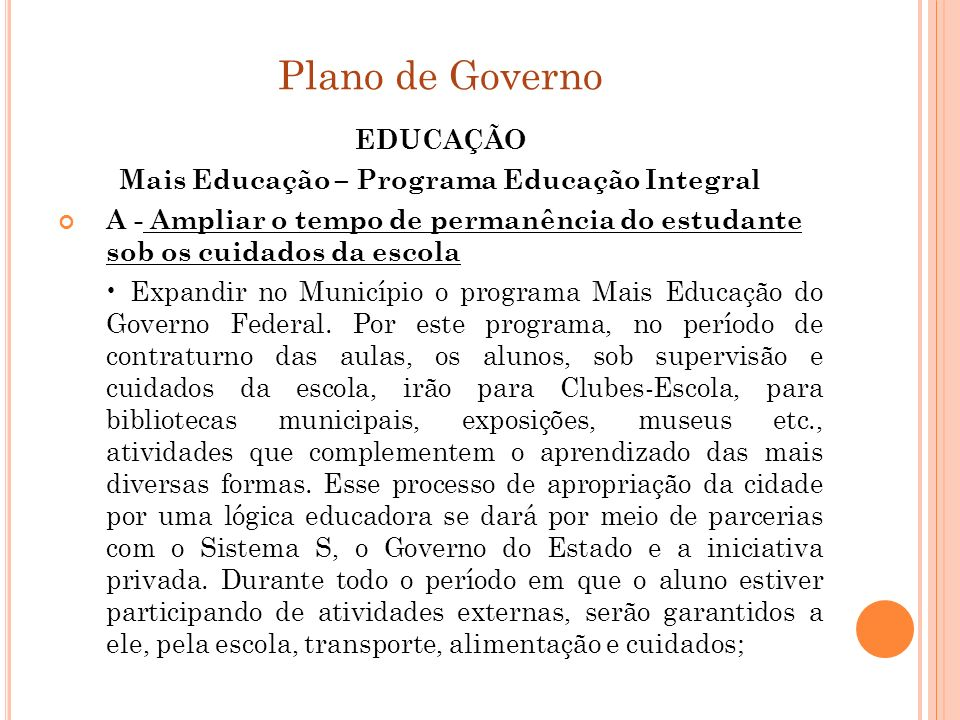 Mais Educação – Programa Educação Integral