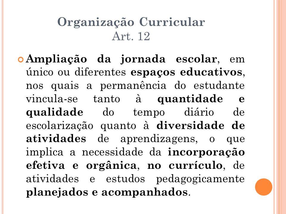 Organização Curricular Art. 12