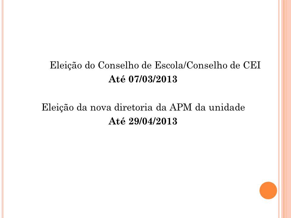 Eleição da nova diretoria da APM da unidade