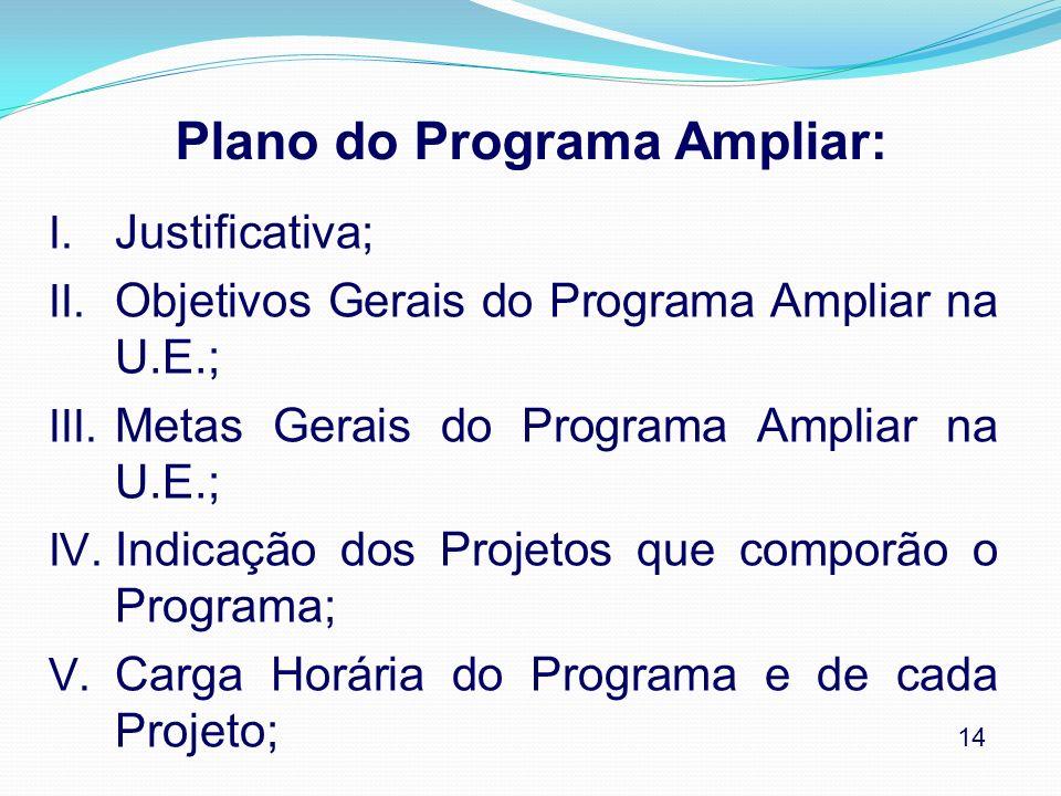 Plano do Programa Ampliar: