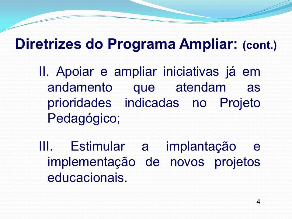 Diretrizes do Programa Ampliar: (cont.)