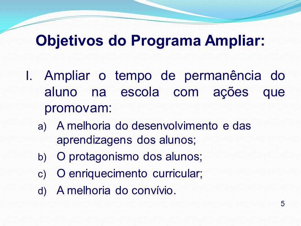 Objetivos do Programa Ampliar: