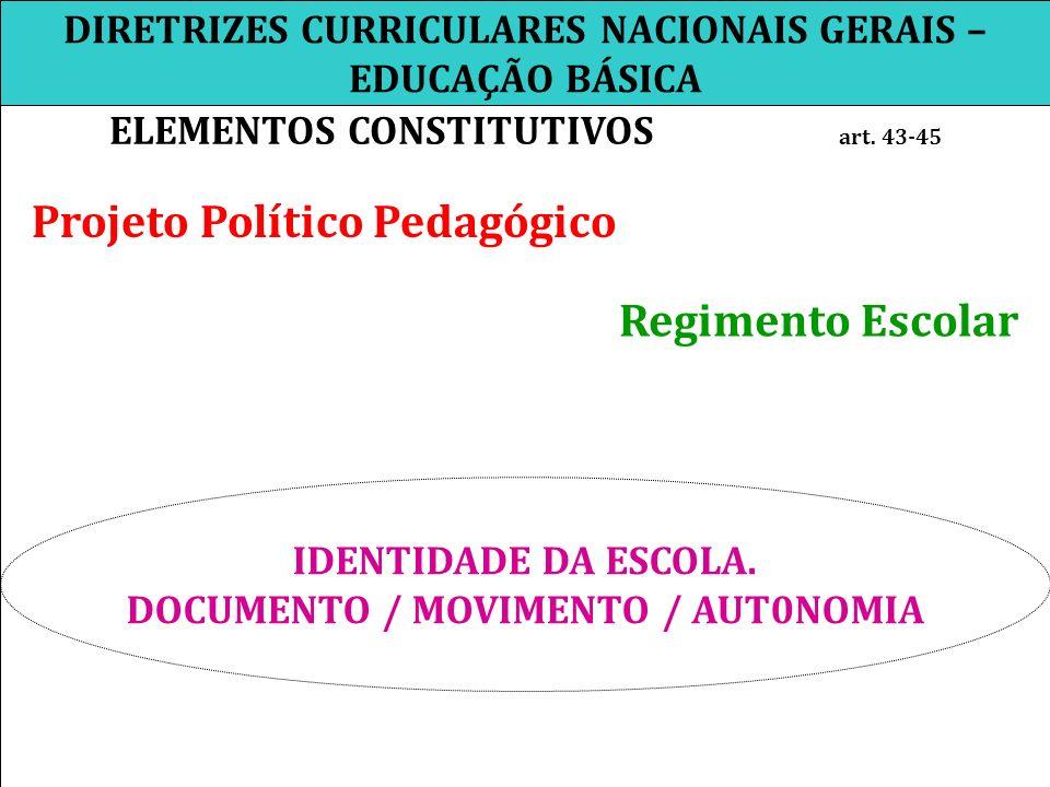 DIRETRIZES CURRICULARES NACIONAIS GERAIS – EDUCAÇÃO BÁSICA
