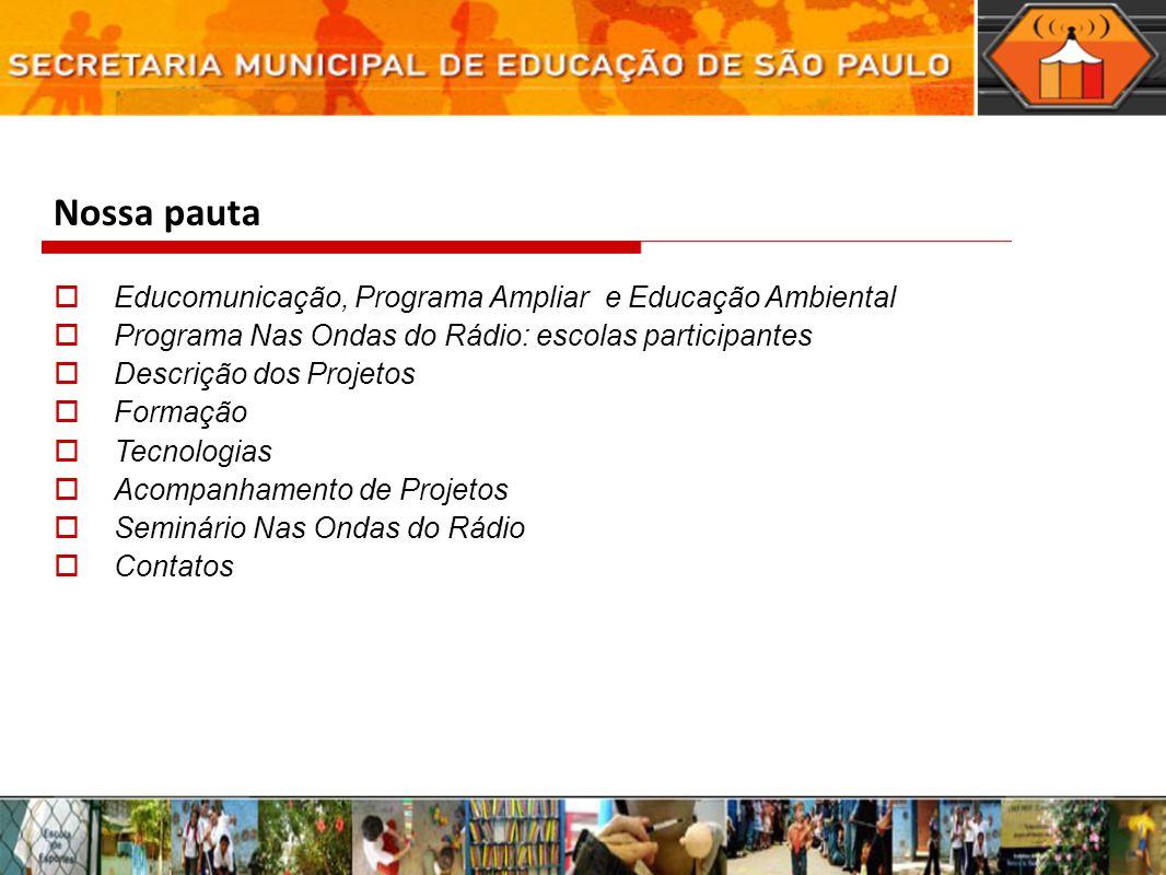 Nossa pauta Educomunicação, Programa Ampliar e Educação Ambiental