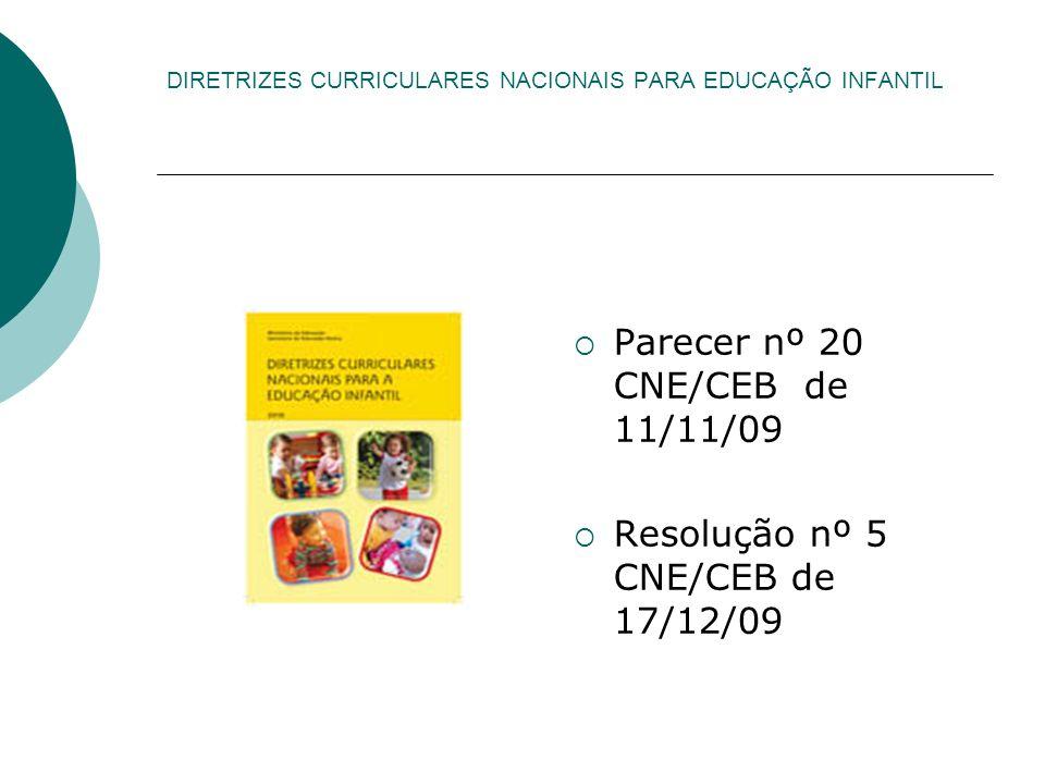 DIRETRIZES CURRICULARES NACIONAIS PARA EDUCAÇÃO INFANTIL