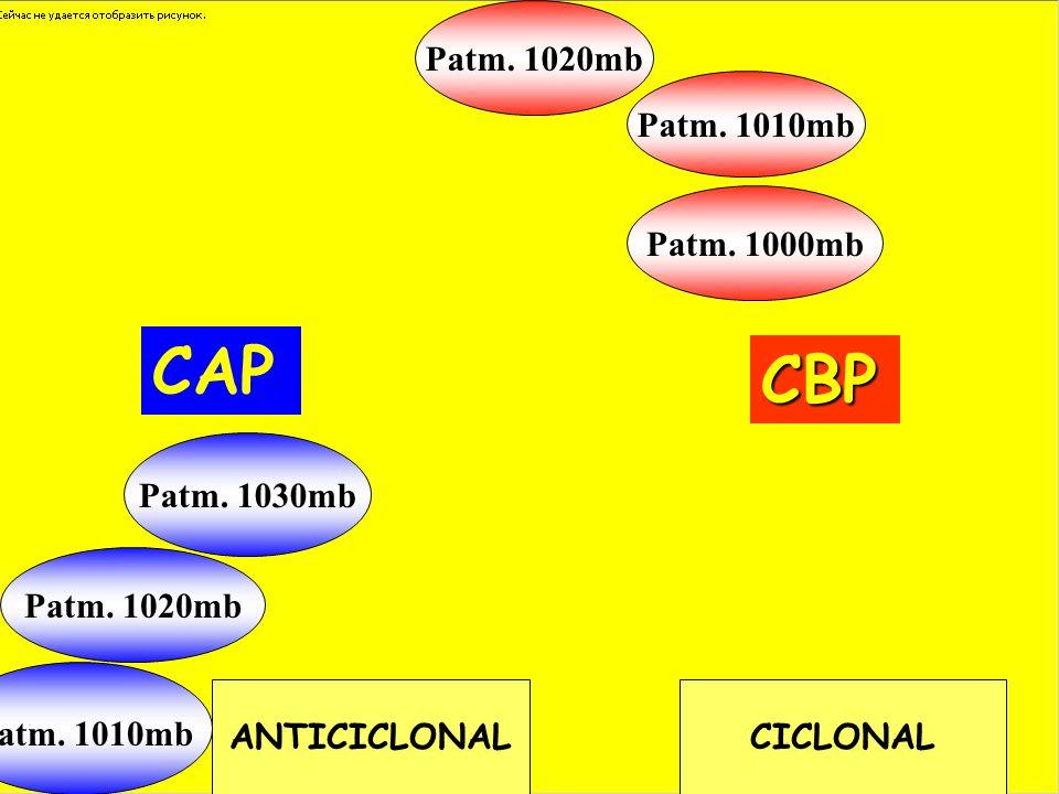 CAP CBP Patm. 1020mb Patm. 1010mb Patm. 1000mb Patm. 1030mb