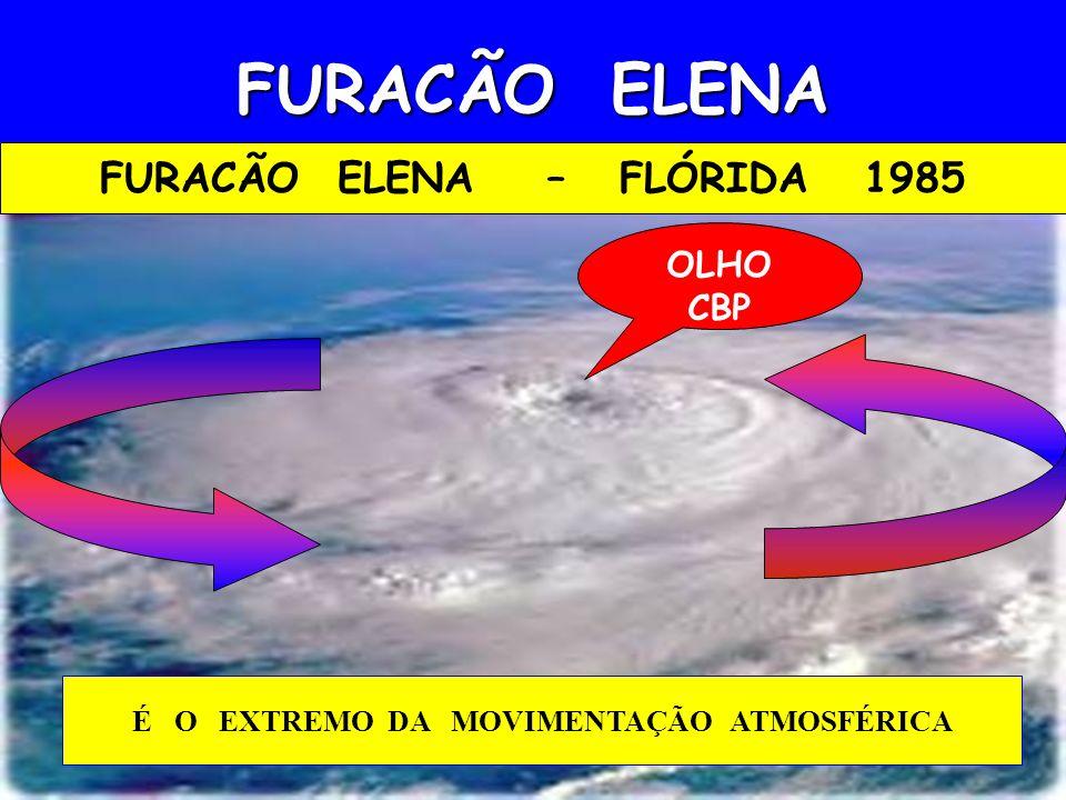 FURACÃO ELENA – FLÓRIDA 1985 É O EXTREMO DA MOVIMENTAÇÃO ATMOSFÉRICA