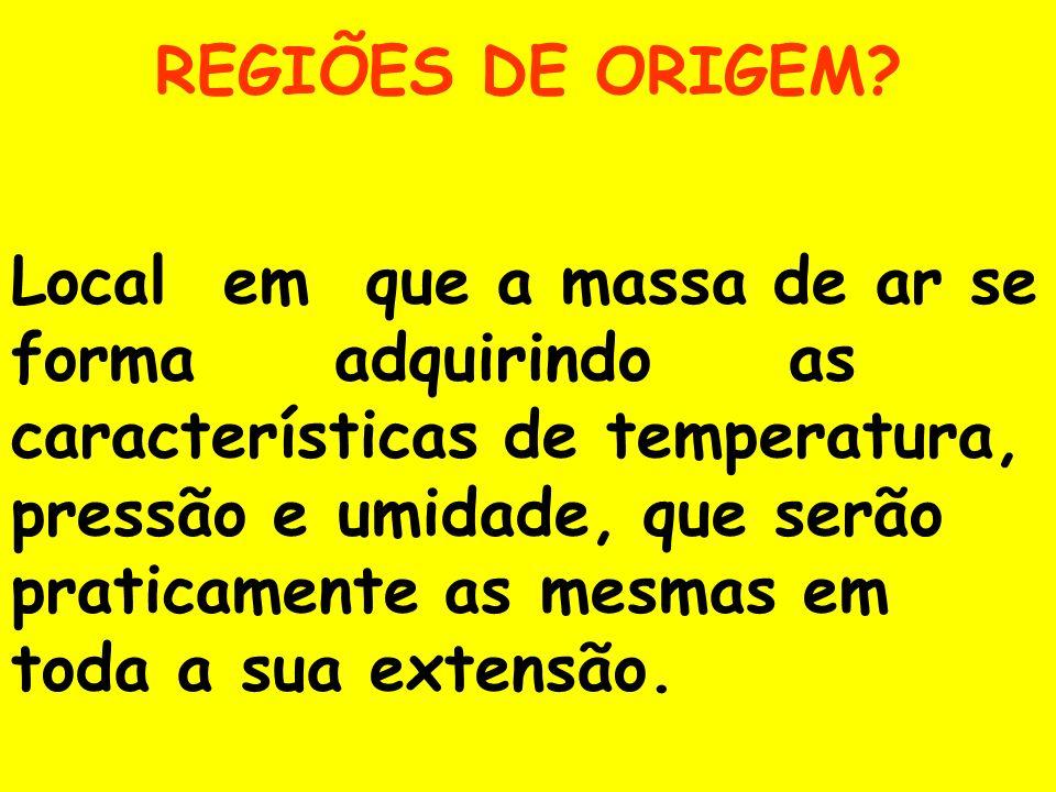 REGIÕES DE ORIGEM