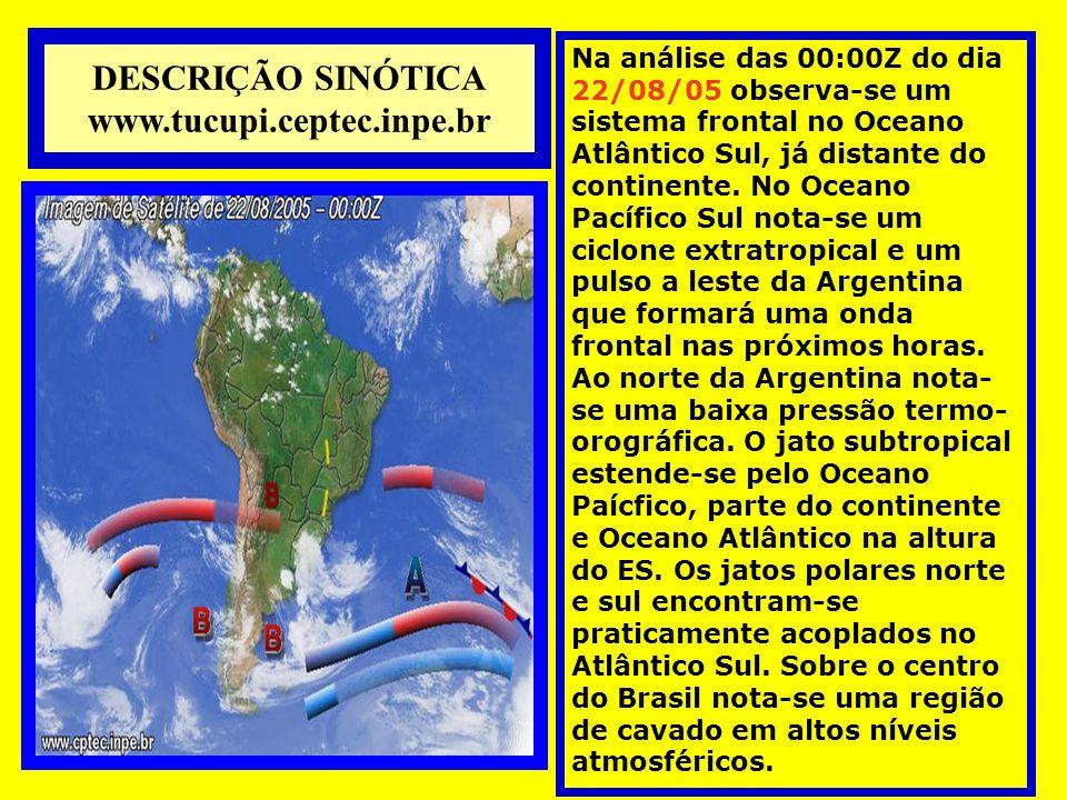 DESCRIÇÃO SINÓTICA www.tucupi.ceptec.inpe.br