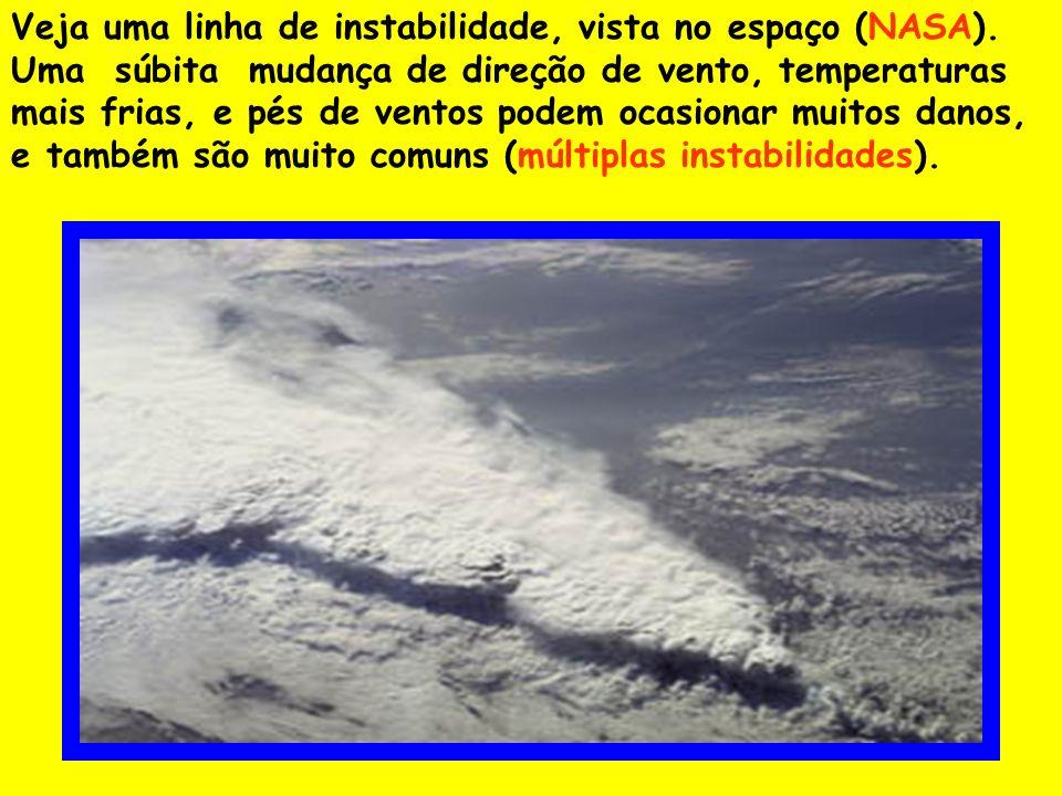 Veja uma linha de instabilidade, vista no espaço (NASA)