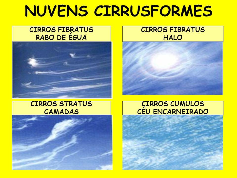 NUVENS CIRRUSFORMES CIRROS FIBRATUS RABO DE ÉGUA CIRROS FIBRATUS HALO