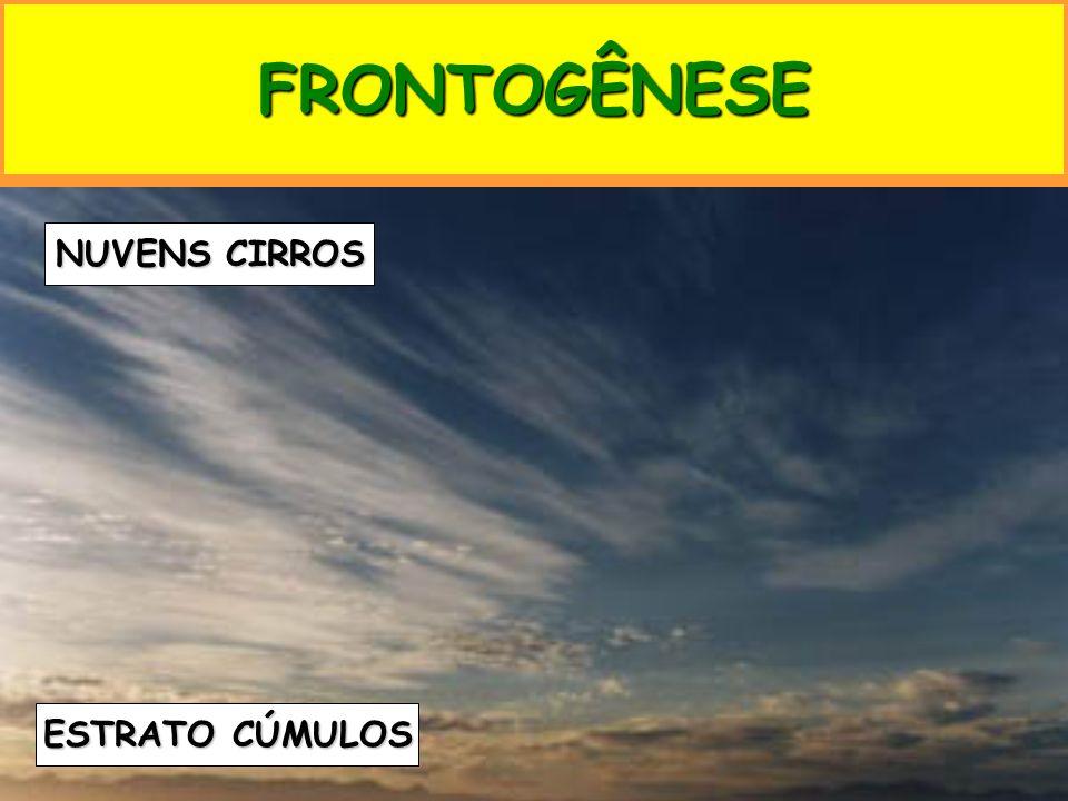 FRONTOGÊNESE NUVENS CIRROS ESTRATO CÚMULOS
