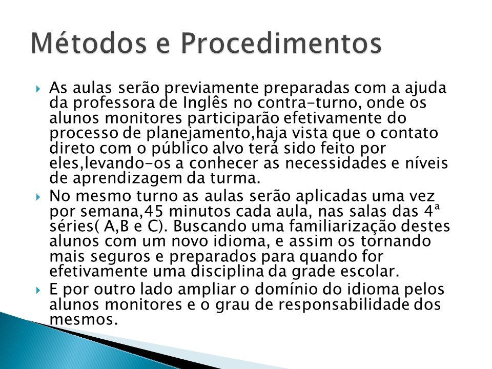 Métodos e Procedimentos