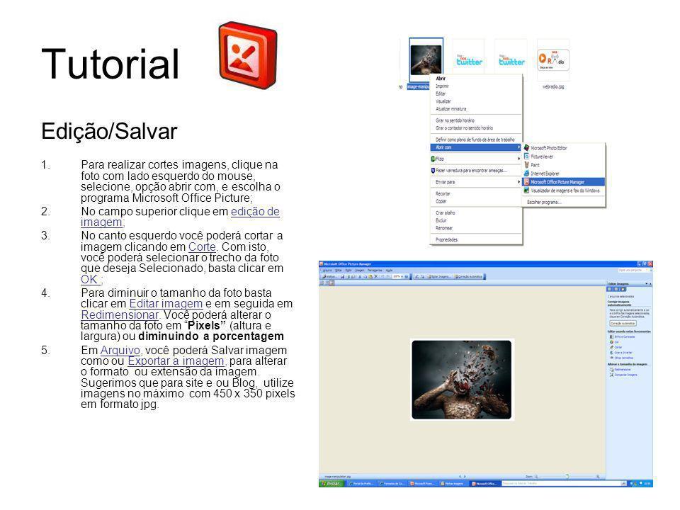 Tutorial Edição/Salvar