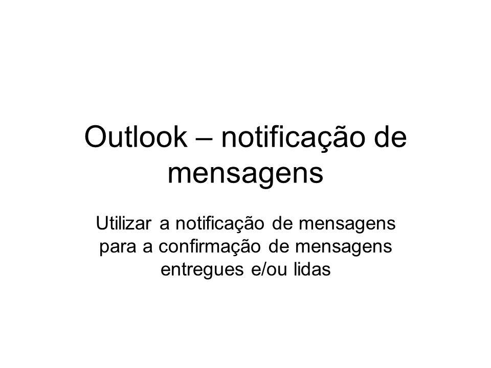 Outlook – notificação de mensagens