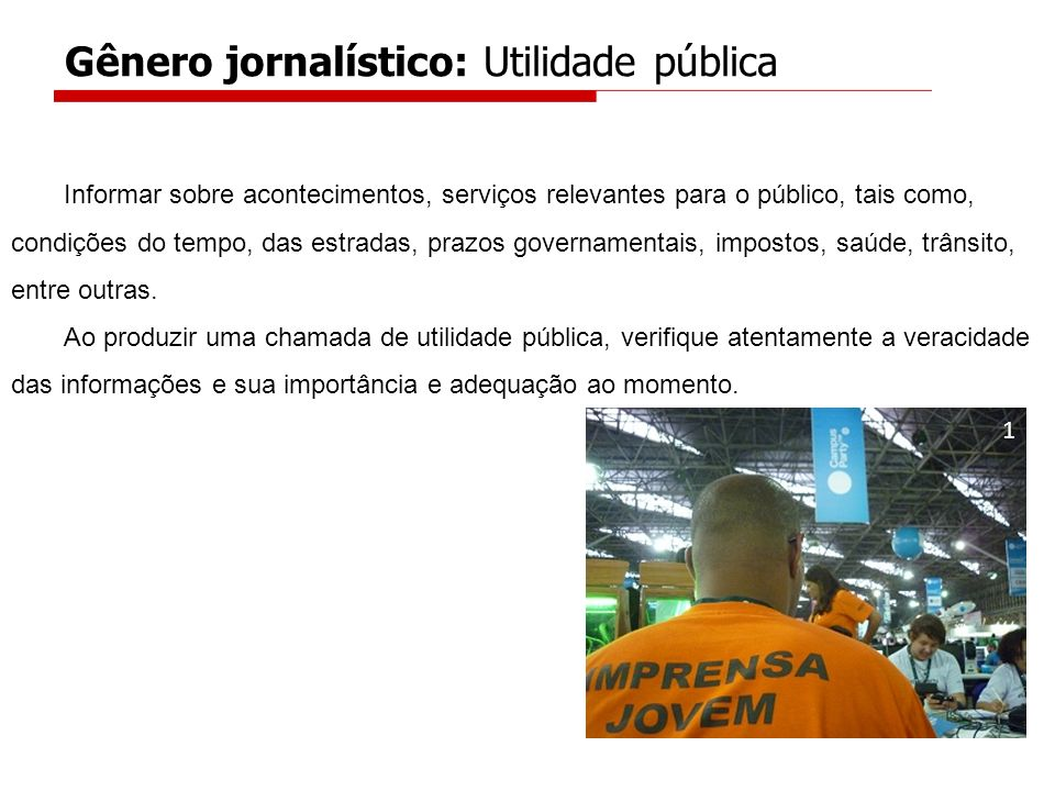Gênero jornalístico: Utilidade pública
