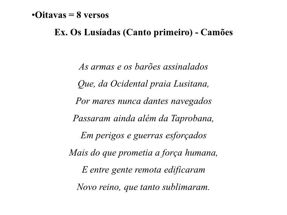Ex. Os Lusíadas (Canto primeiro) - Camões