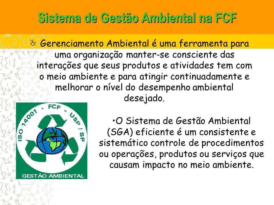 Sistema de Gestão Ambiental na FCF