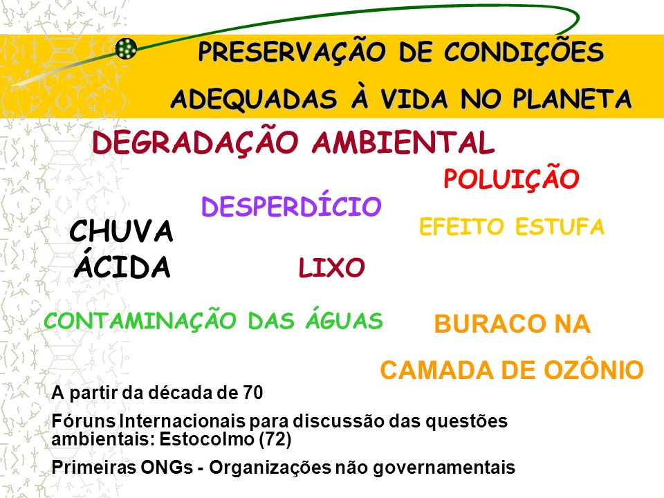 DEGRADAÇÃO AMBIENTAL CHUVA ÁCIDA