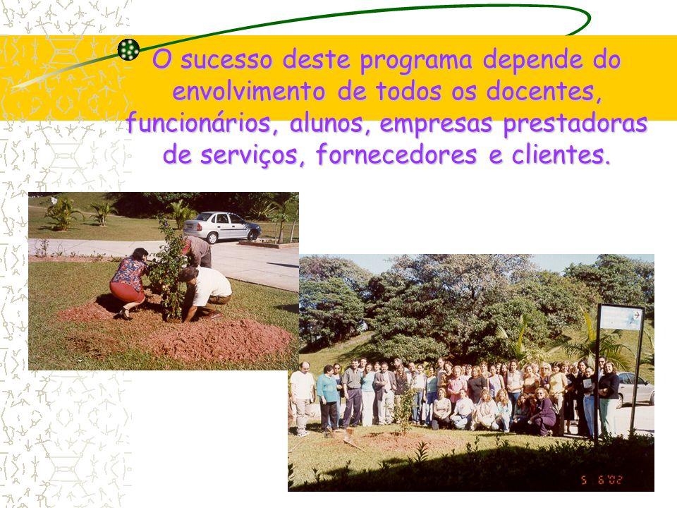O sucesso deste programa depende do envolvimento de todos os docentes, funcionários, alunos, empresas prestadoras de serviços, fornecedores e clientes.