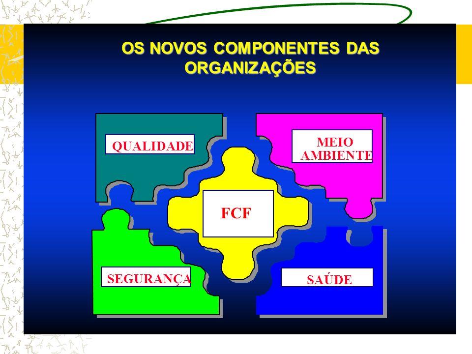 OS NOVOS COMPONENTES DAS ORGANIZAÇÕES