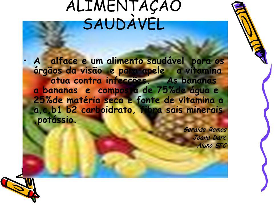 ALIMENTAÇÃO SAUDÀVEL