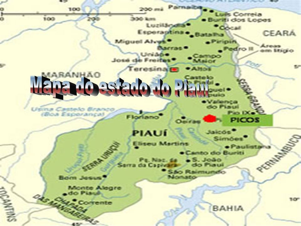 Mapa do estado do Piauí