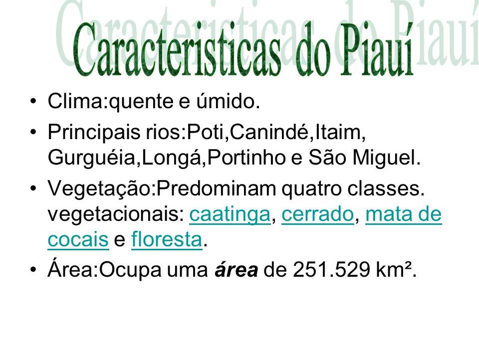 Caracteristicas do Piauí