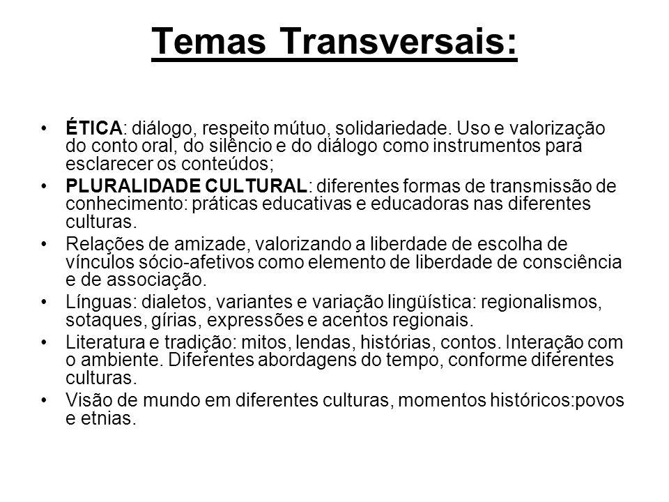 Temas Transversais: