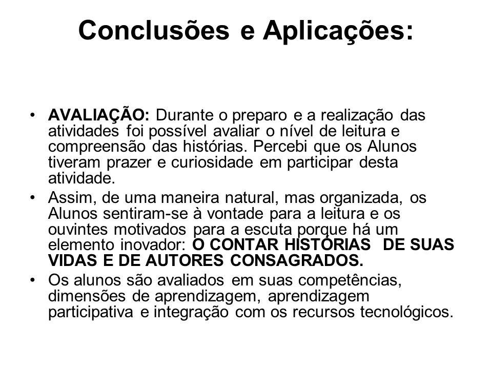 Conclusões e Aplicações: