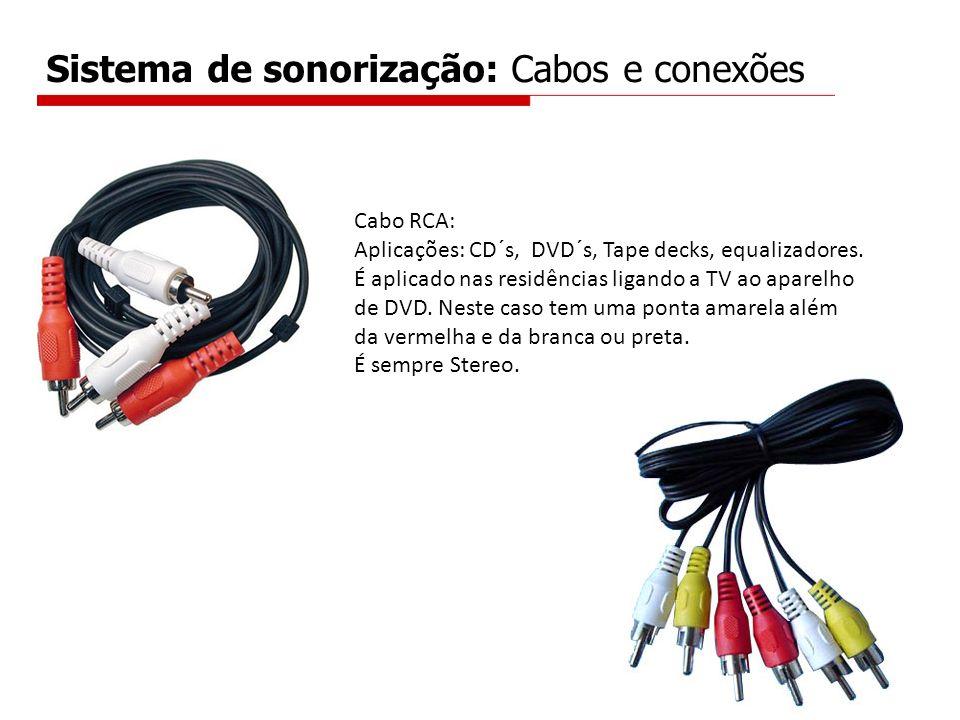 Sistema de sonorização: Cabos e conexões