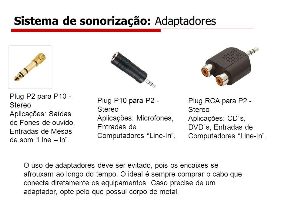 Sistema de sonorização: Adaptadores