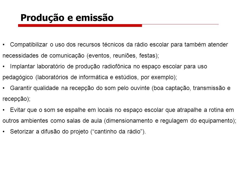 Produção e emissão