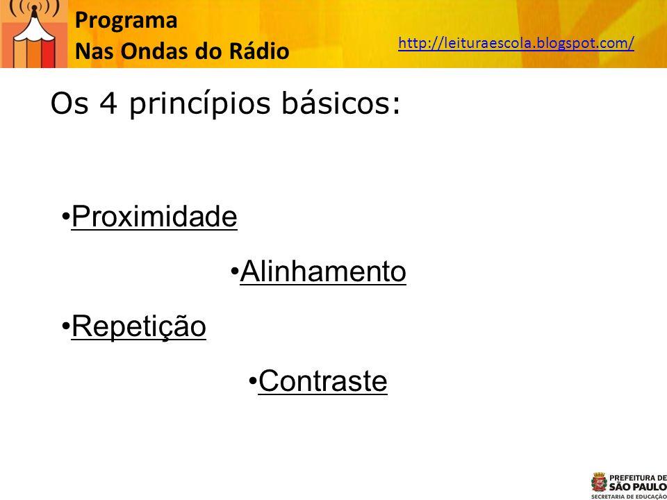 Os 4 princípios básicos: