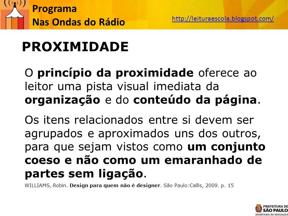 PROXIMIDADE Programa Nas Ondas do Rádio