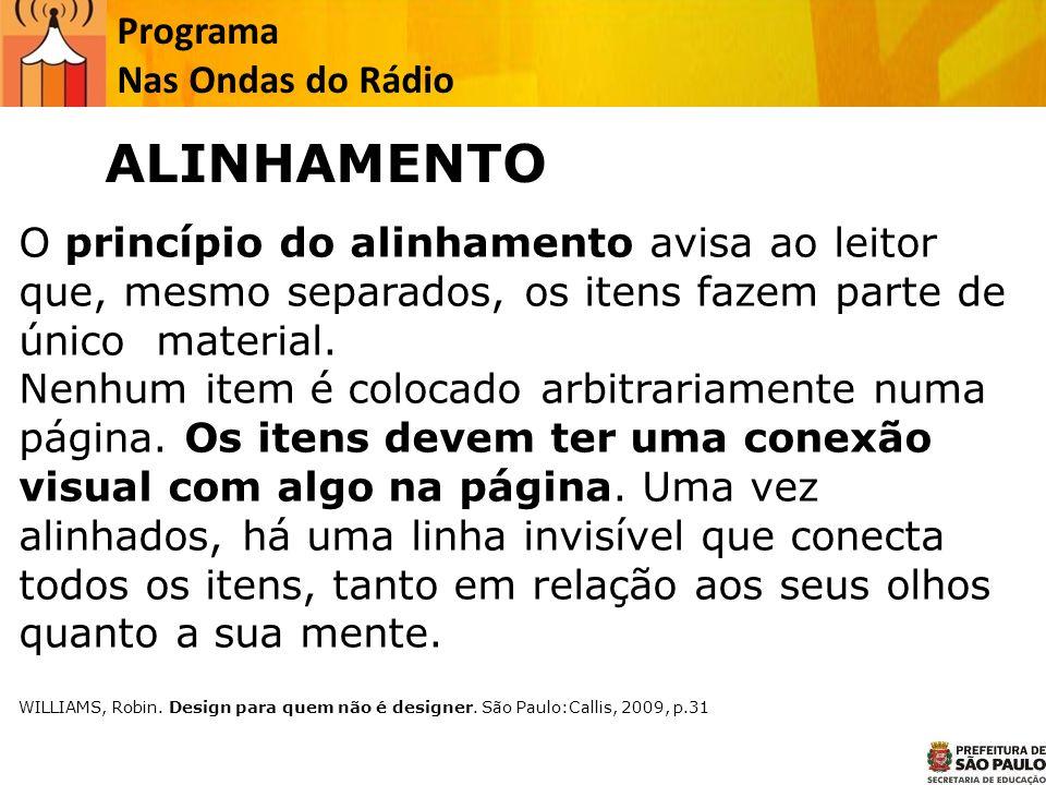 ALINHAMENTO Programa Nas Ondas do Rádio