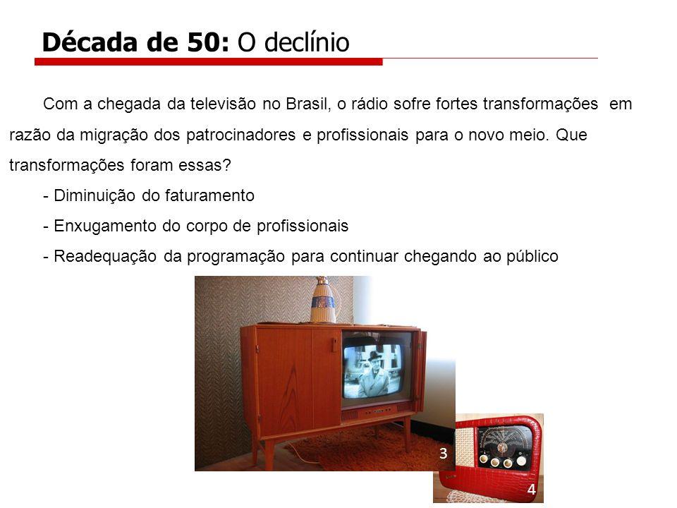 Década de 50: O declínio