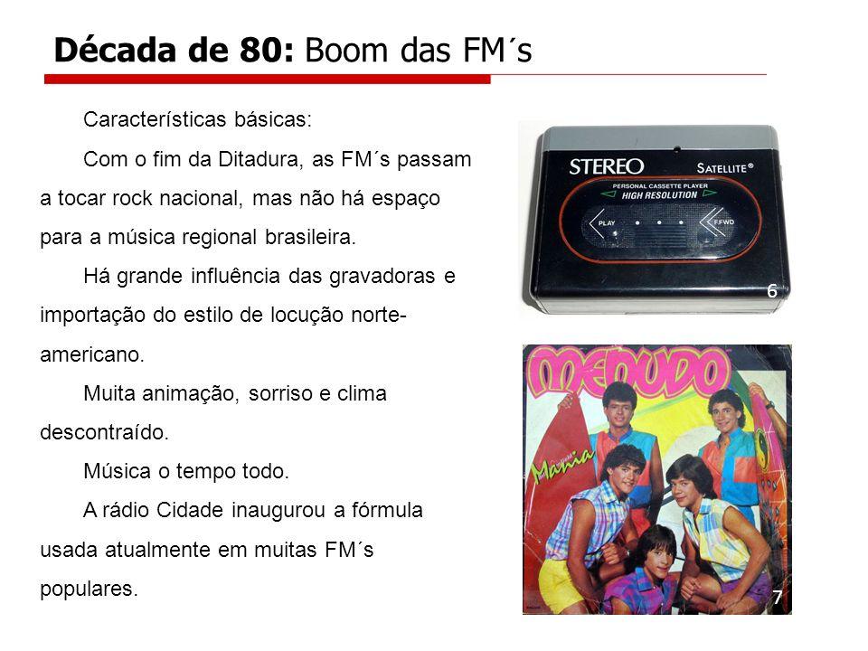 Década de 80: Boom das FM´s