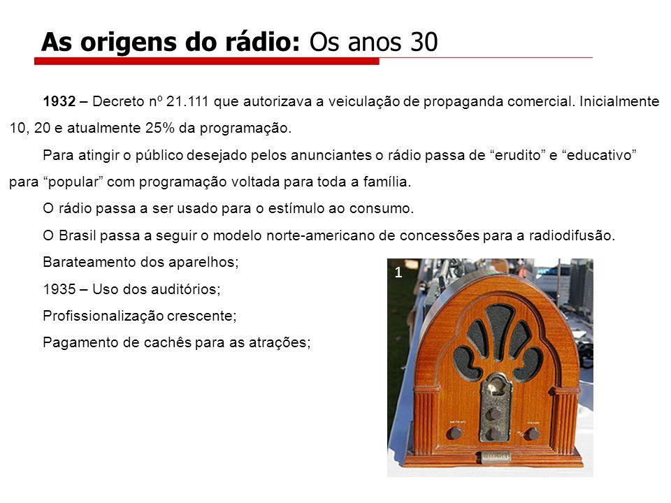 As origens do rádio: Os anos 30